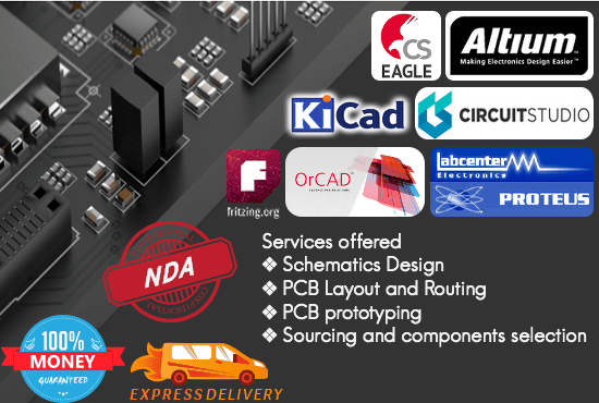 Do pcb design in eagle,altium,orcad, proteus,fritzing,kicad by ...