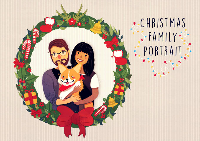 draw your christmas family portrait by cutiepainting