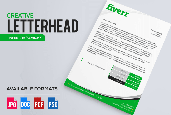 design letterhead or stationary and businesscard