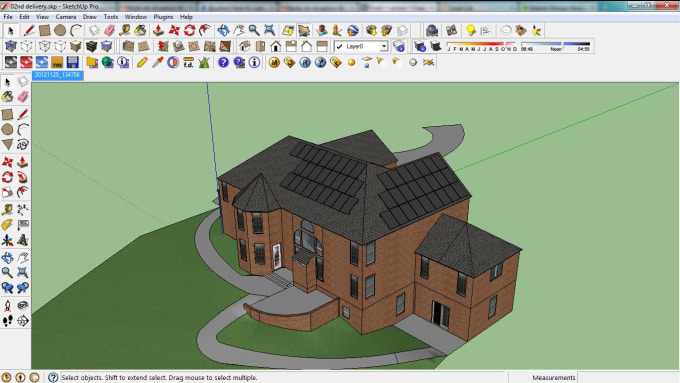 usnass : I will create a 3d model in sketchup or revit for $5 on  www fiverr com