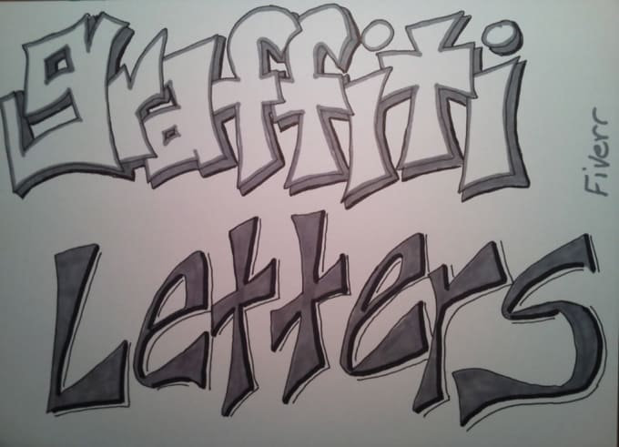 draw words graffiti style really fast