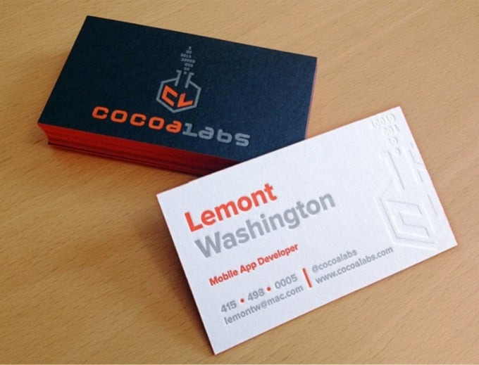 Design an amazing double sided business card