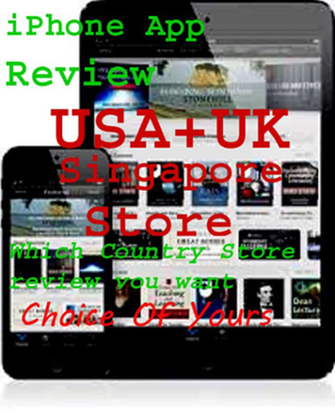 downlod ur iPhon,iPad,iOS App and write 10review or 15Rating On any iTunes  store