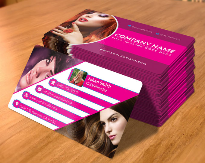 Make Creative Professional Beauty Salon Business Card By Lima Graphic
