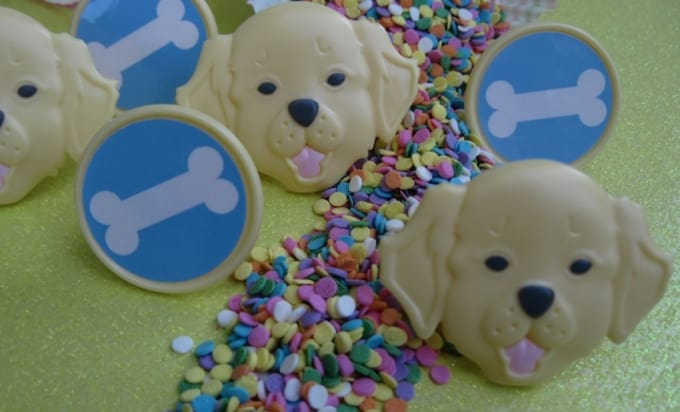 Send 12 Puppy Cupcake Decorating Rings And Edible Quins By