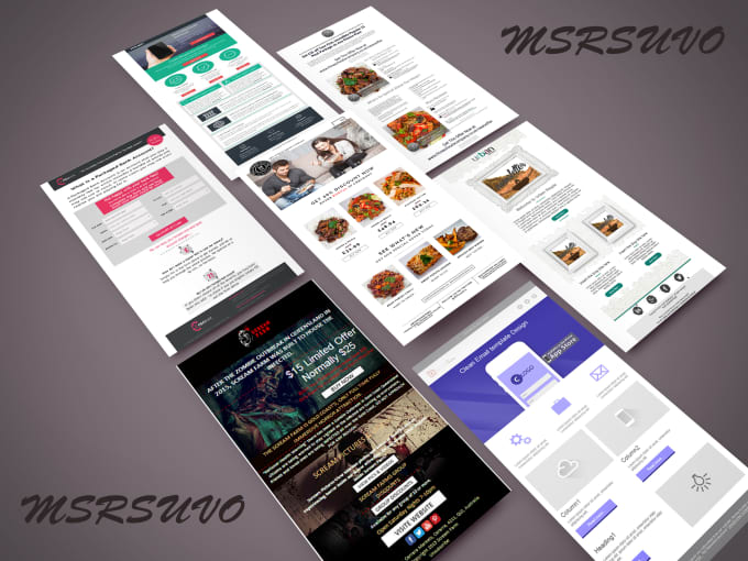 Design And Create Html Email Template Fiverr - Create html email template