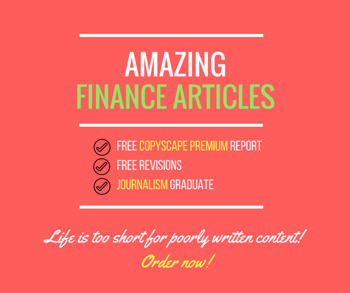 write a 500 word long finance article