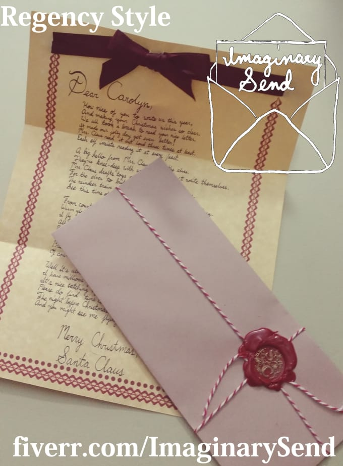 Send a copy of my handwritten letter from santa poem in one of 3 send a copy of my handwritten letter from santa poem in one of 3 styles spiritdancerdesigns Gallery