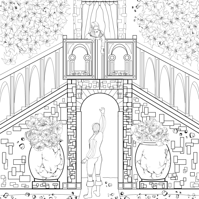 Illustrate professional coloring book page by Artistmanish
