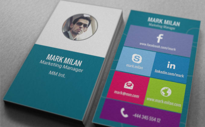 Design windows 10 style business card by shammad design windows 10 style business card colourmoves