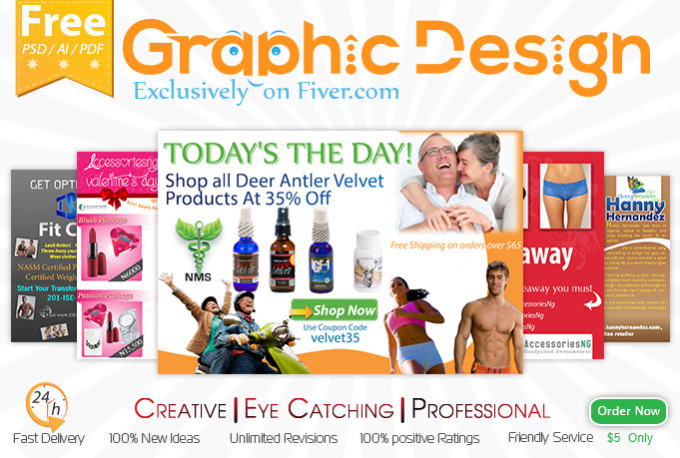 Do Creative Graphic Designs With Free Psd By Edesign9