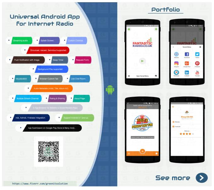 build universal android fm radio player app