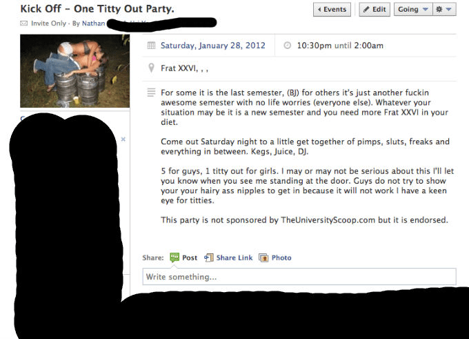 freshest_kugel : I will write you the best damn Facebook event invite ever  for $5 on www fiverr com