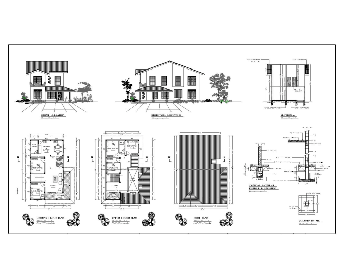 architectural and structural drawings