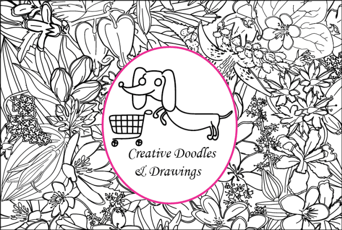 Create doodles and drawings for coloring books by Shailyart
