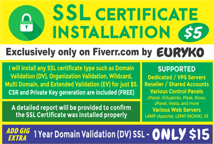 Install Https Ssl Certificate On Your Web Server By Euryko