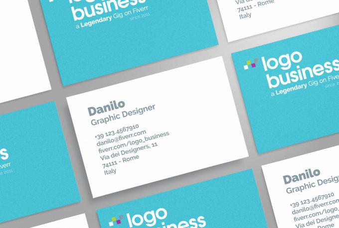 Graphic Design Business Card Design On Fiverr
