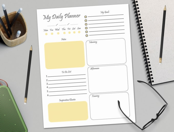 create great printable daily planner by taja85