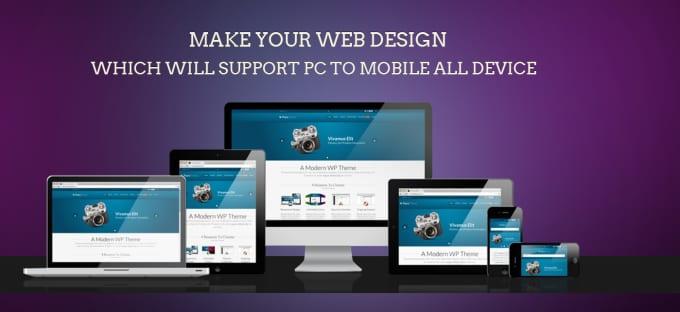 create responsive stunning web page design