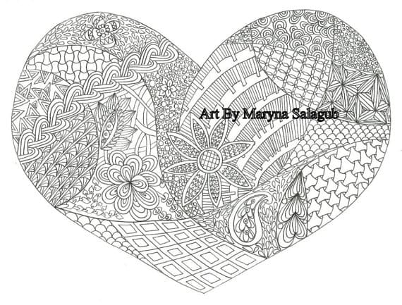 draw complicated zentangle coloring book or page for you