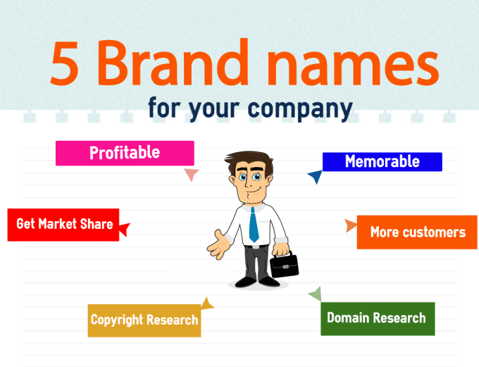 I Will Suggest 5 Awesome Brand Names Ideas For Your Business Company