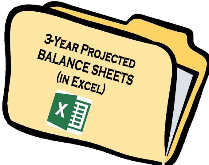 projected balance sheet in excel