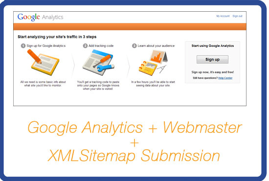 setup google analytics webmaster and xml sitemap by jadlatif
