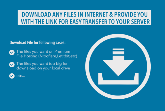 download Files from Premium File Hosting to Your Server