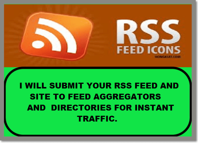 submit your RSS feed and site to syndicators for seo and instant traffic