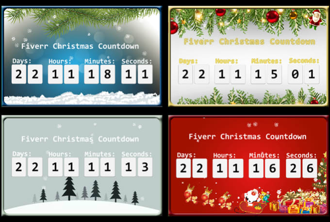 create a personalized christmas countdown clock 12 designs