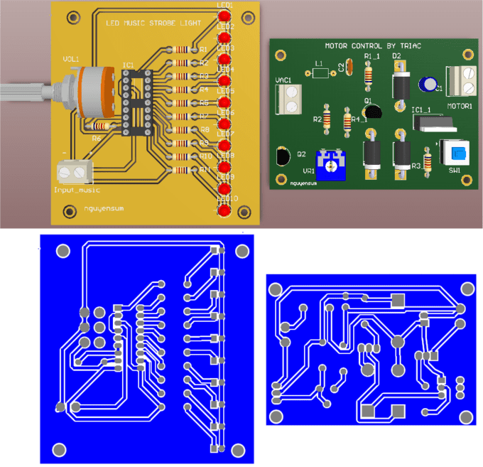 Design electronic circuit,simulation,pcb, eagle,altium by Nguyensum