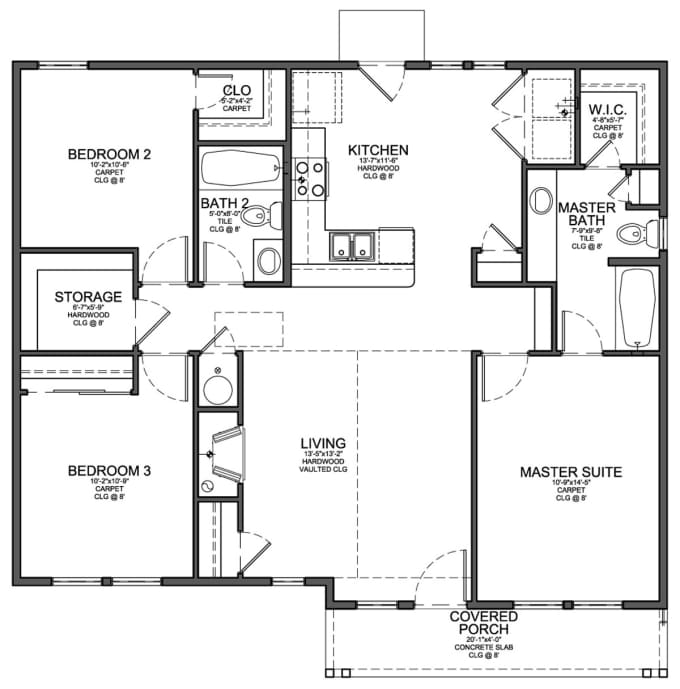 Draw your house plans in autocad by elyelyy for Cad floor plans