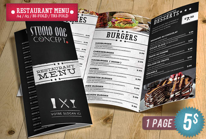 Design Menu Restaurant Brochures By Smitherz