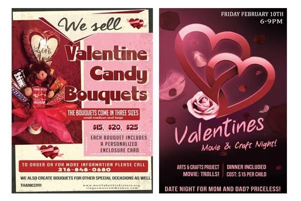 Design St Valentine Flyer Or Poster By Luli07