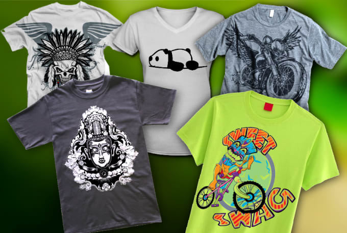 do custom tshirt design in any style