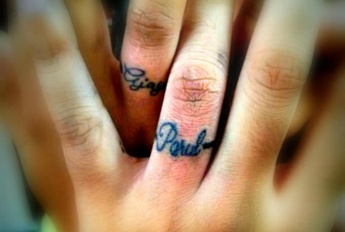 Wedding Ring Tattoo.Pculiar I Will Design Your Wedding Ring Tattoo For 5 On Www Fiverr Com