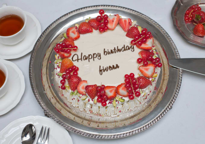 Put Your Message On Summer Berries Birthday Cake By Creativityart