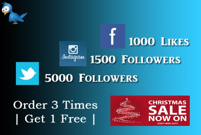 seo_topper : I will provide 1000 Facebook Likes Or 5000 Twitter Followers  Or 1500 Instagram Folowers for $5 on www fiverr com