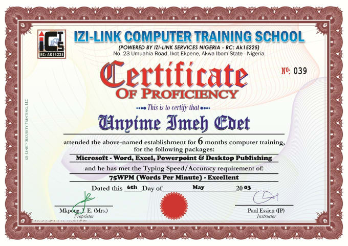 Izi2brauz I Will Design You An Awesome Certificate For Your Business For 5 On Www Fiverr Com