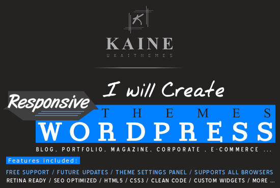 Create a responsive wordpress theme by Osefkai