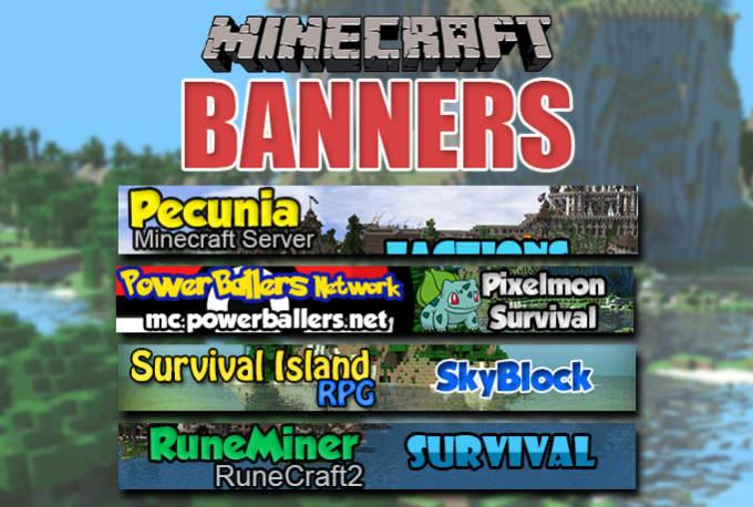 Minecraft Server Status Banner - Best Banner Design 2018