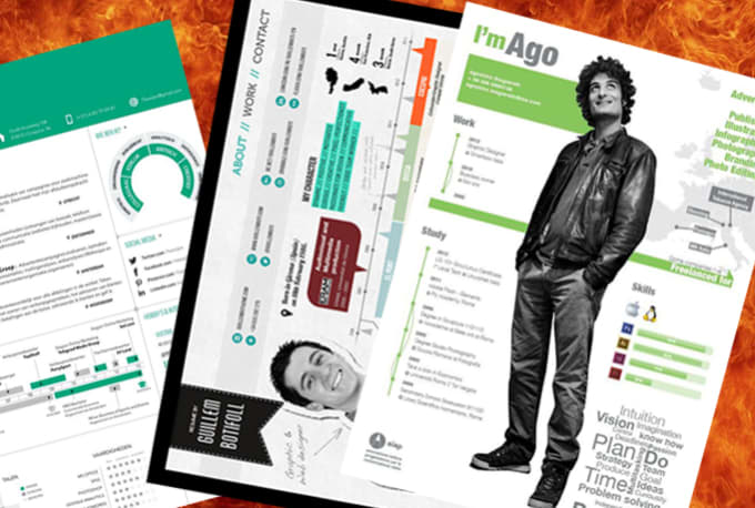 Create A Killer Cv Resume In Infographic Style By Godhands