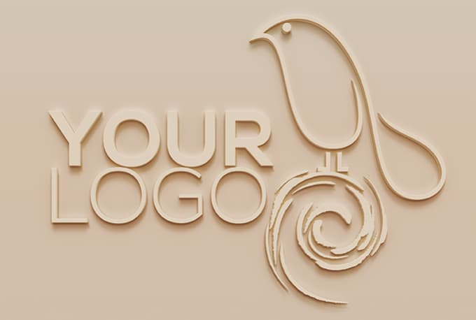 create an embossed 3d wall look from your logo by designers den