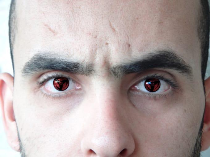 turn your eyes into a real sharingan eye