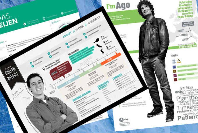 create a cool cv resume in infographic style by godhands