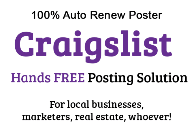netresiduals : I will create a Craigslist Auto Poster Tool for $5 on  www fiverr com