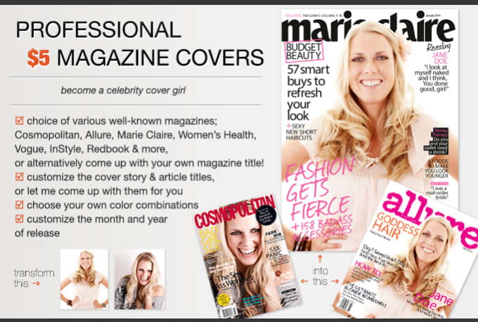how to create a magazine cover