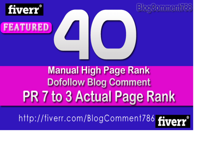 trevorer : I will give you 17 approve Blog Comment List for $5 on  www fiverr com