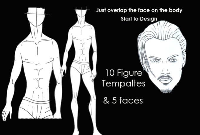 Send You 10 Mens Fashion Figure Templates