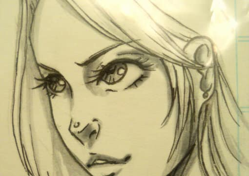 draw a traditional semi realistic anime headshot of any character or